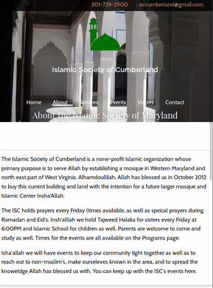Islamic Society of Cumberland | Jeremy Spencer - Developer